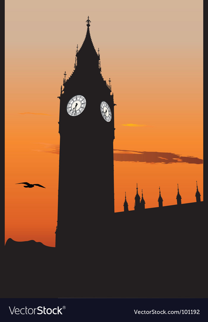 The big ben vector | Price: 1 Credit (USD $1)