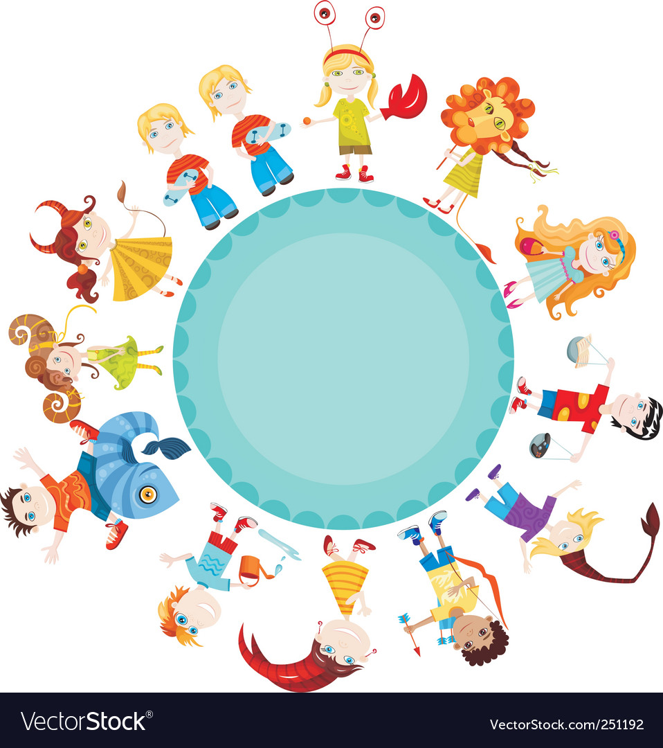 Children horoscope vector | Price: 1 Credit (USD $1)