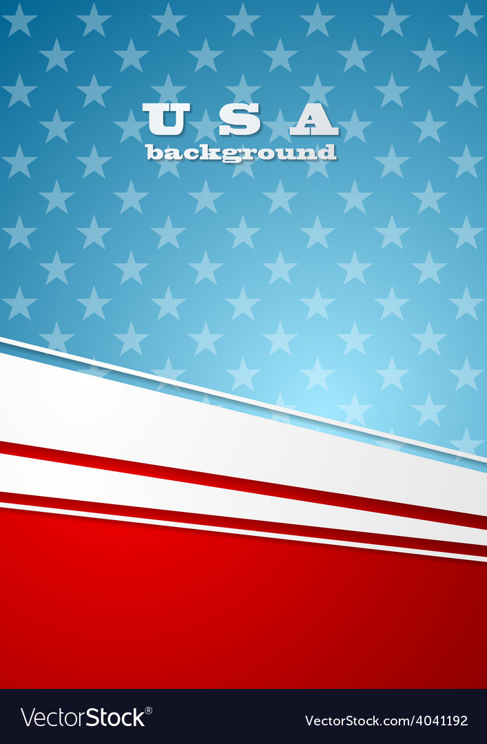 Corporate bright abstract background usa colors vector   Price: 1 Credit (USD $1)