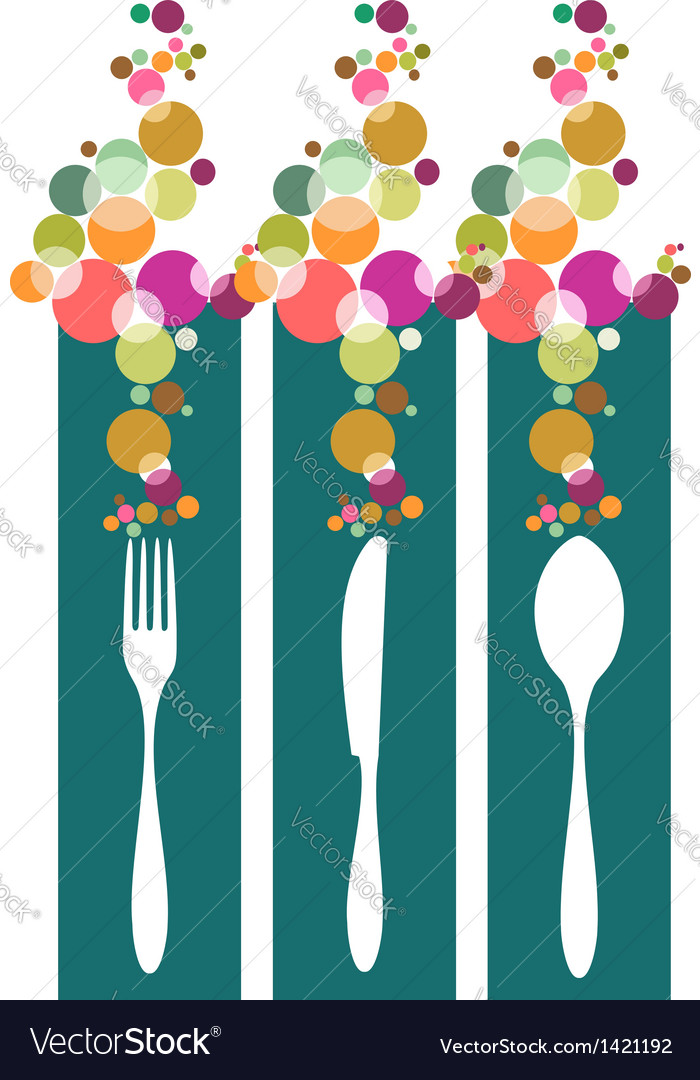 Cutlery contemporary pattern vector | Price: 1 Credit (USD $1)