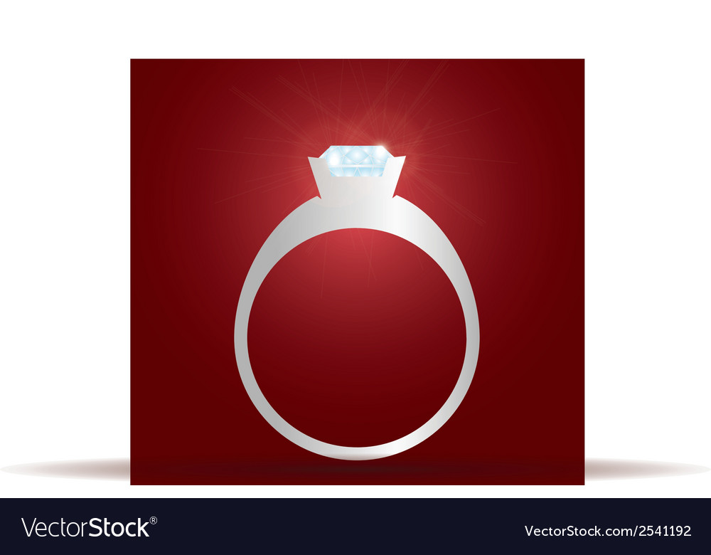 Engagement ring with diamond eps10 vector | Price: 1 Credit (USD $1)