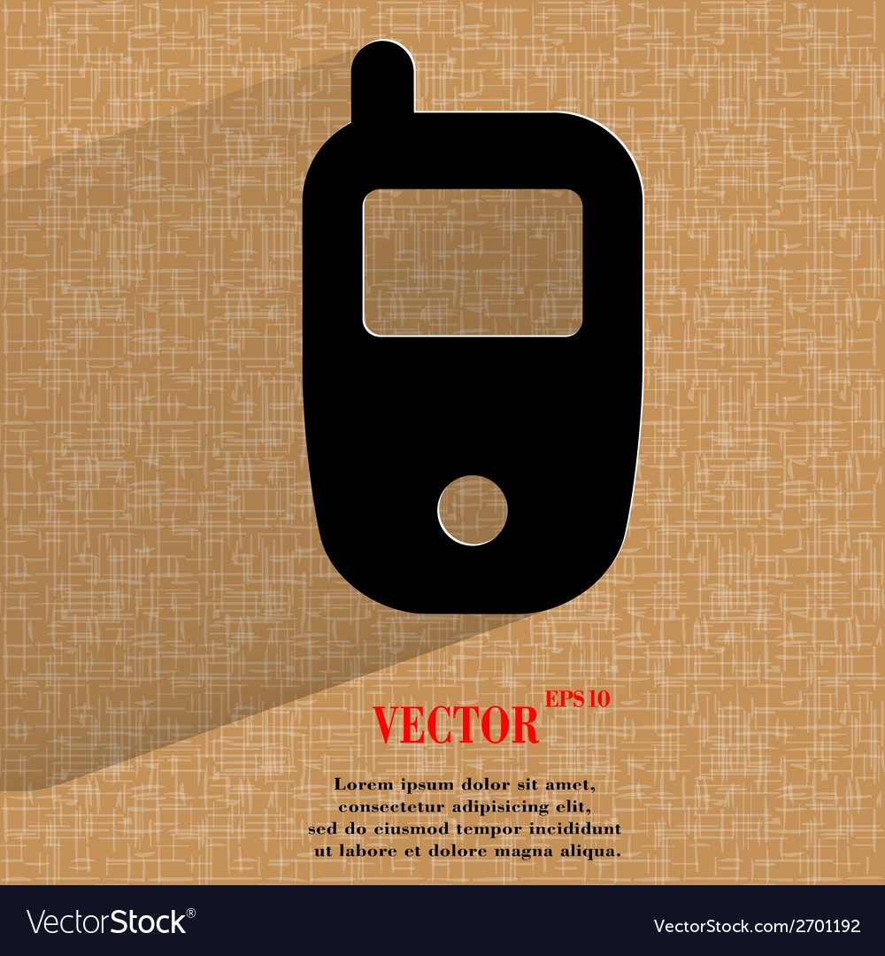Mobile phone flat modern web design on a flat vector | Price: 1 Credit (USD $1)