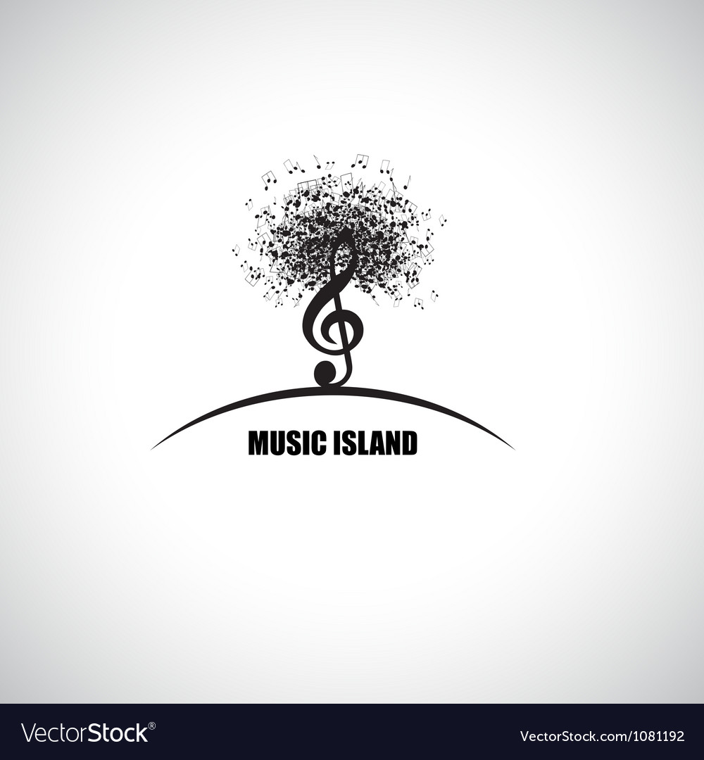 Music island vector | Price: 1 Credit (USD $1)