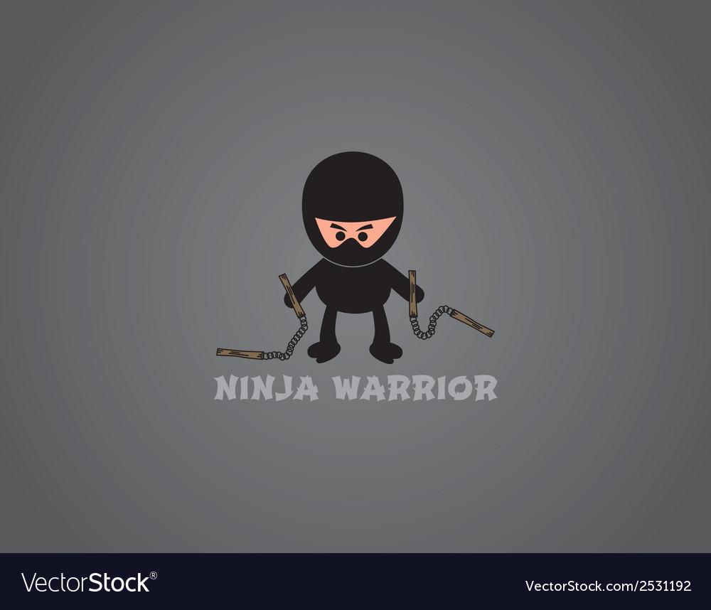 Ninja background vector | Price: 1 Credit (USD $1)