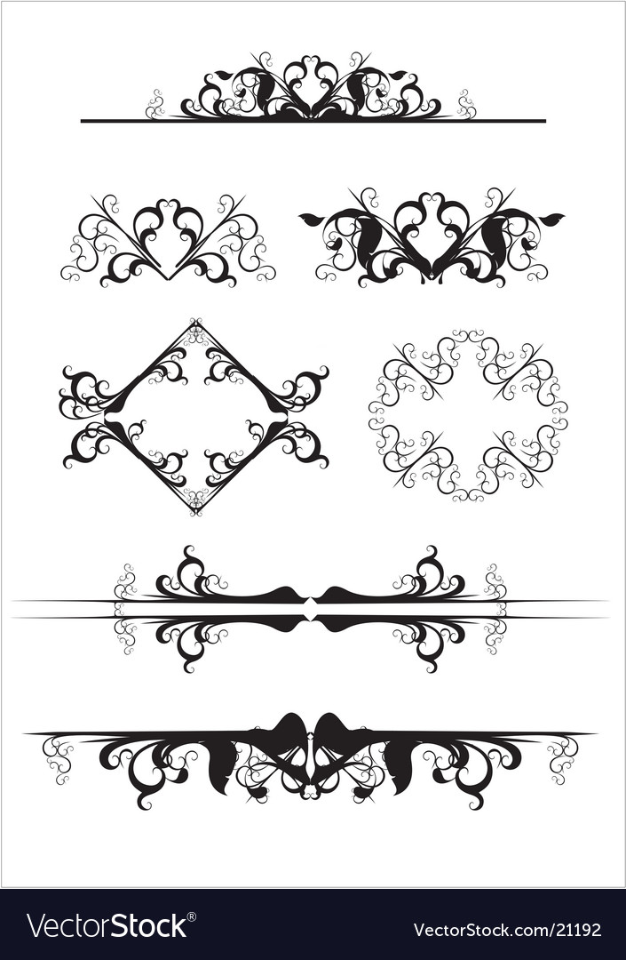 Ornate elements vector | Price: 1 Credit (USD $1)