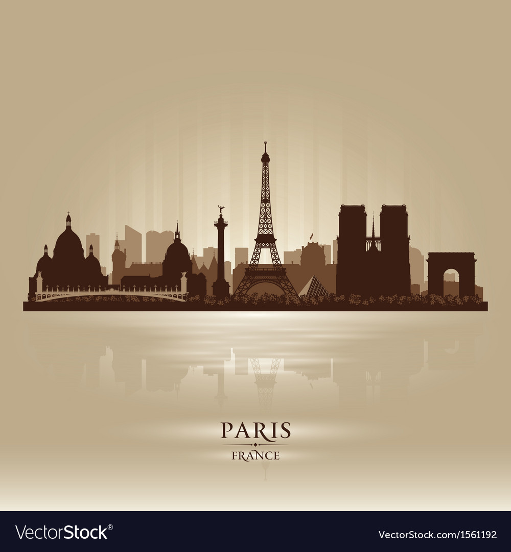 Paris france city skyline silhouette vector | Price: 3 Credit (USD $3)