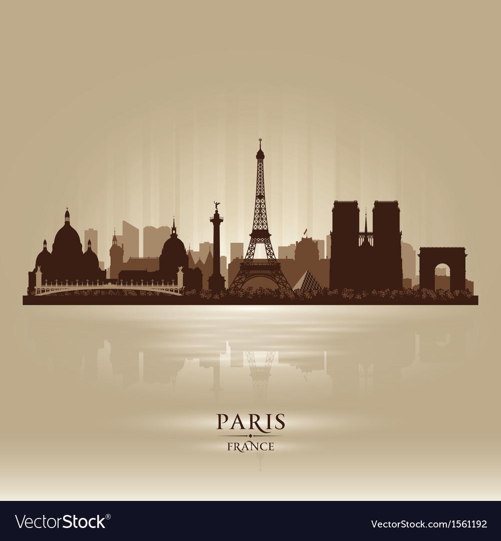 Paris france city skyline silhouette vector | Price: 3 Credit (USD $3)