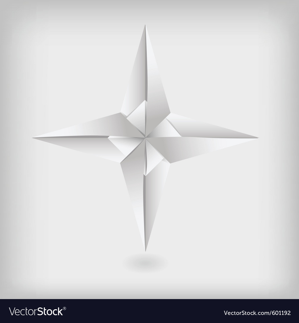 Photo real origami star vector | Price: 1 Credit (USD $1)