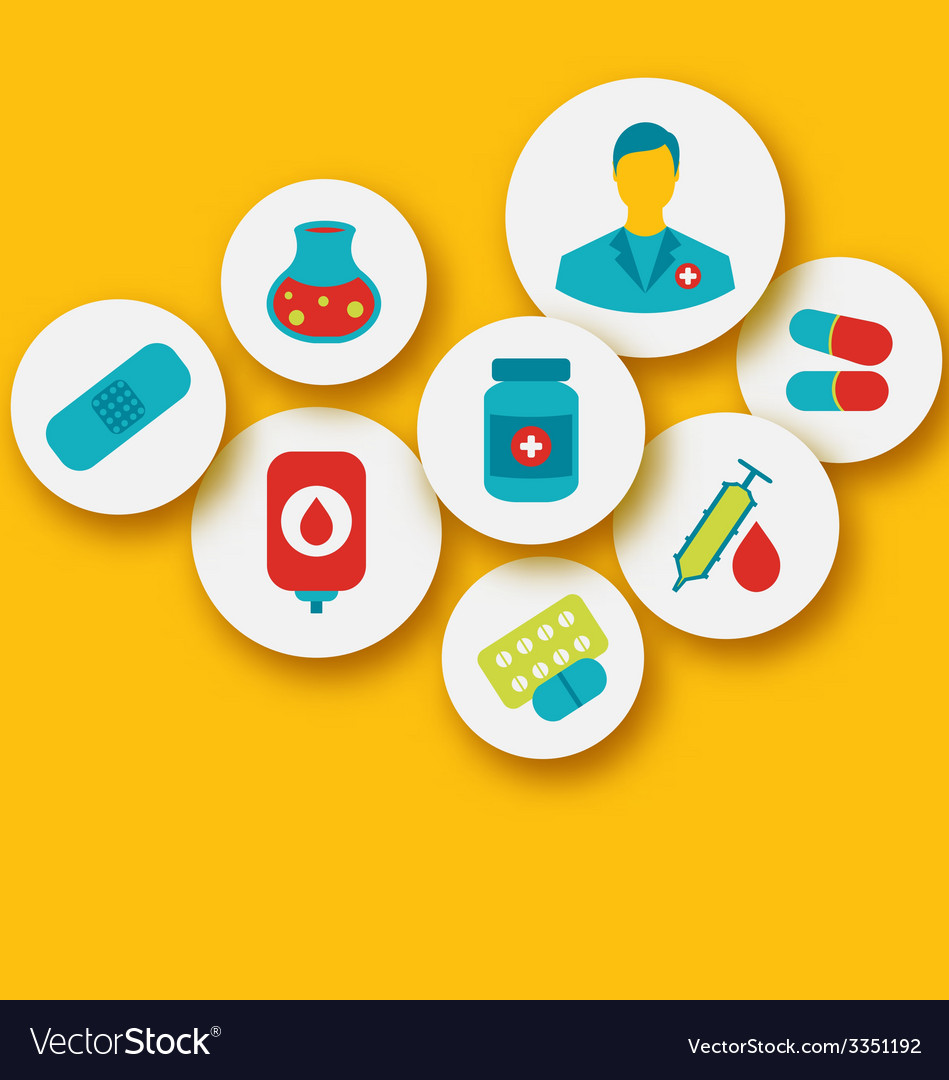 Set colorful medical icons for web design - vector | Price: 1 Credit (USD $1)