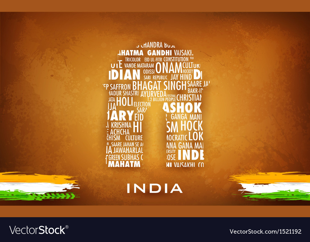 Typography india gate vector | Price: 3 Credit (USD $3)