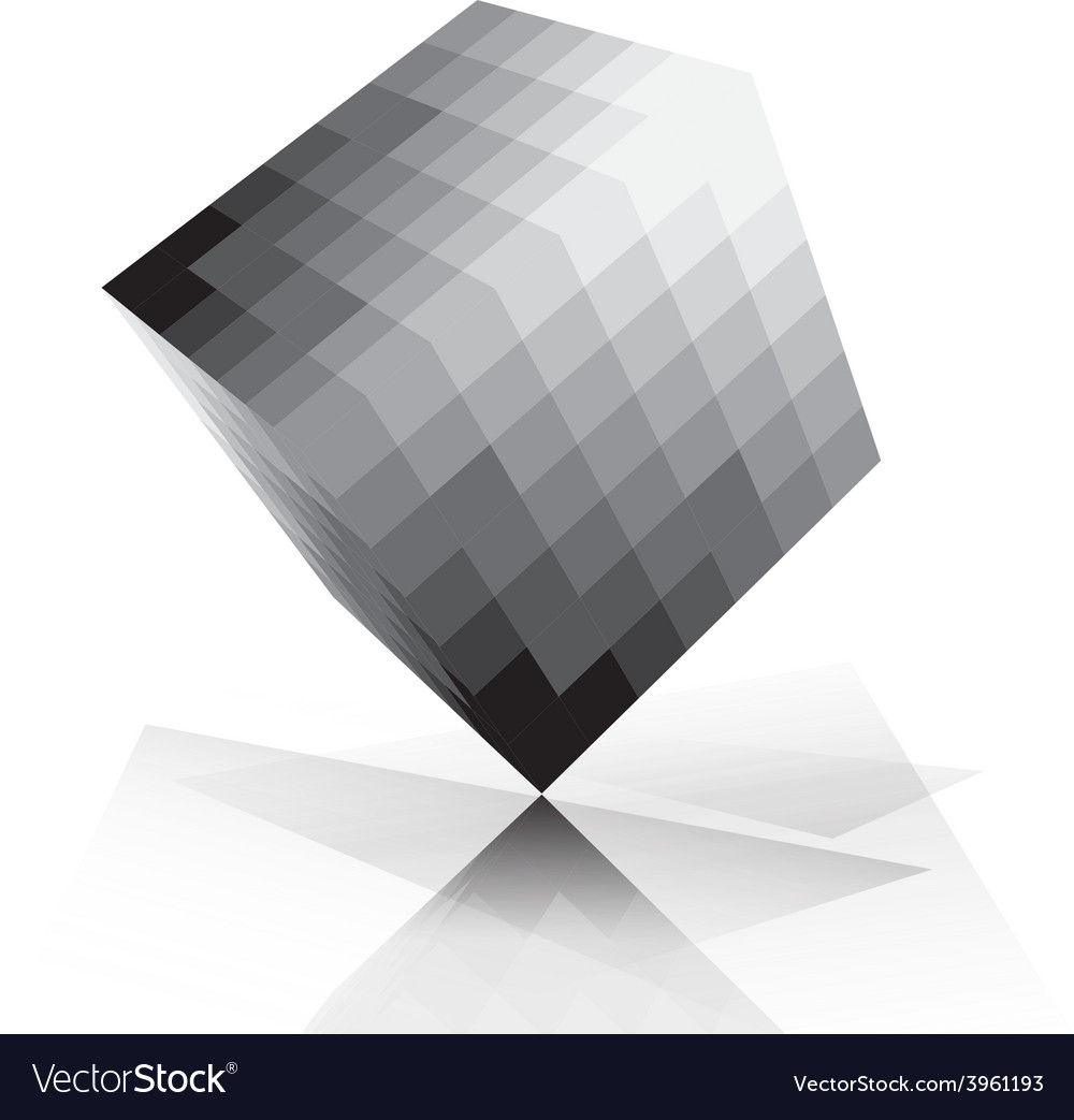 3d cube pixelate style vector | Price: 1 Credit (USD $1)