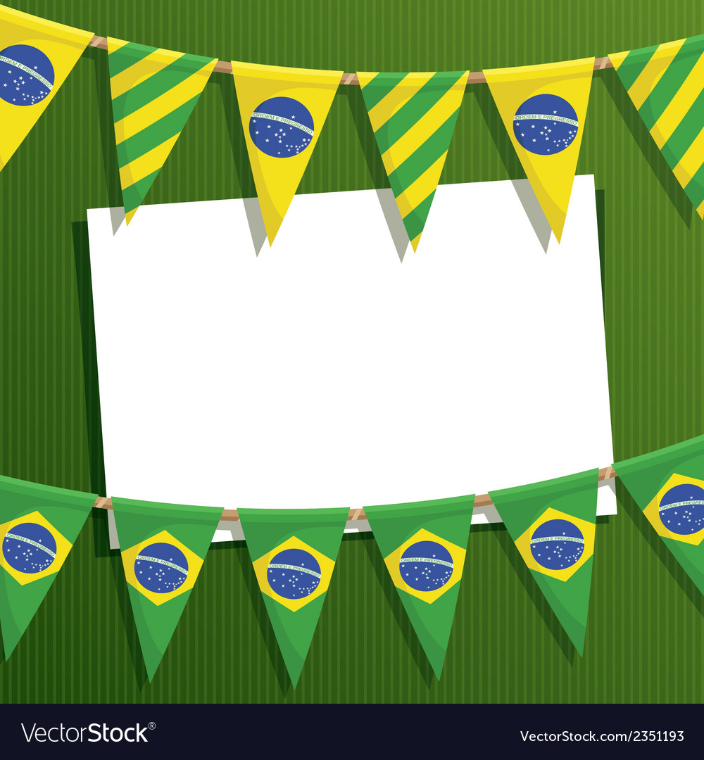 Brazil party card vector | Price: 1 Credit (USD $1)