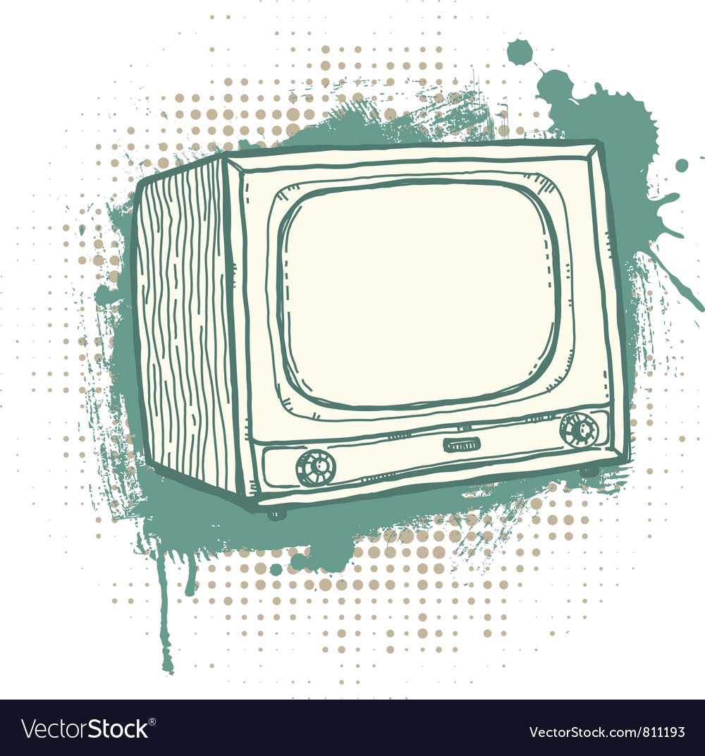 Grunge tvset vector | Price: 1 Credit (USD $1)