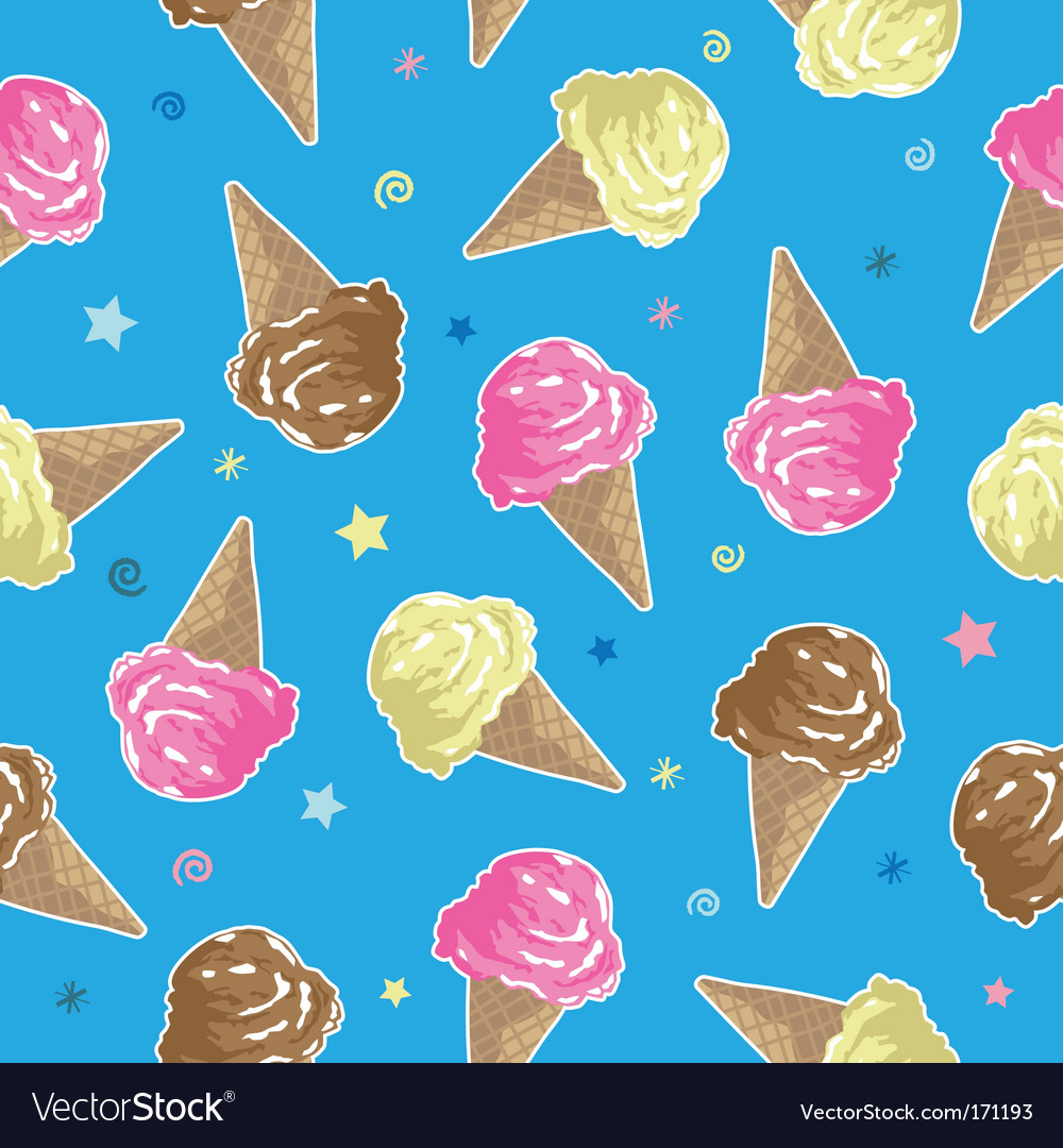 Ice cream pattern vector | Price: 1 Credit (USD $1)