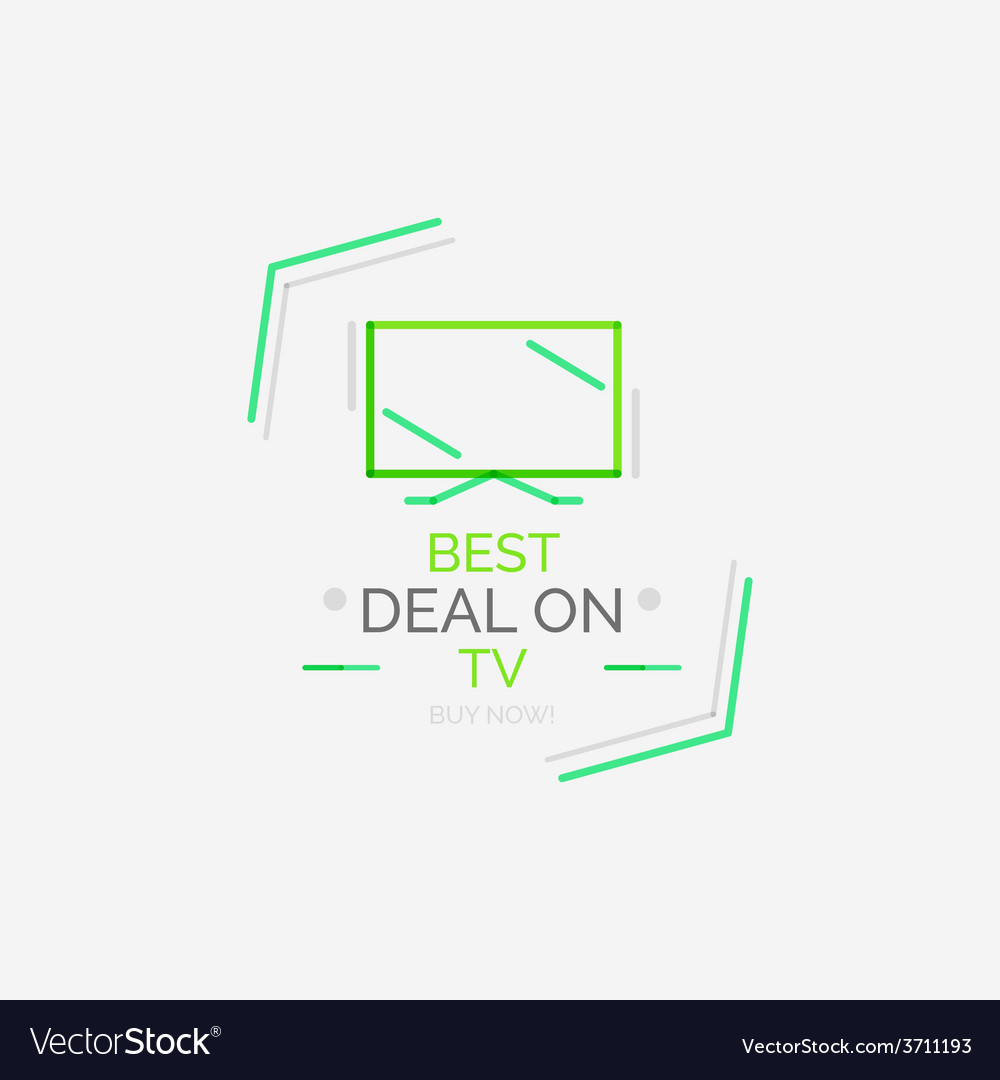 Minimal line design shopping stamps tv vector   Price: 1 Credit (USD $1)