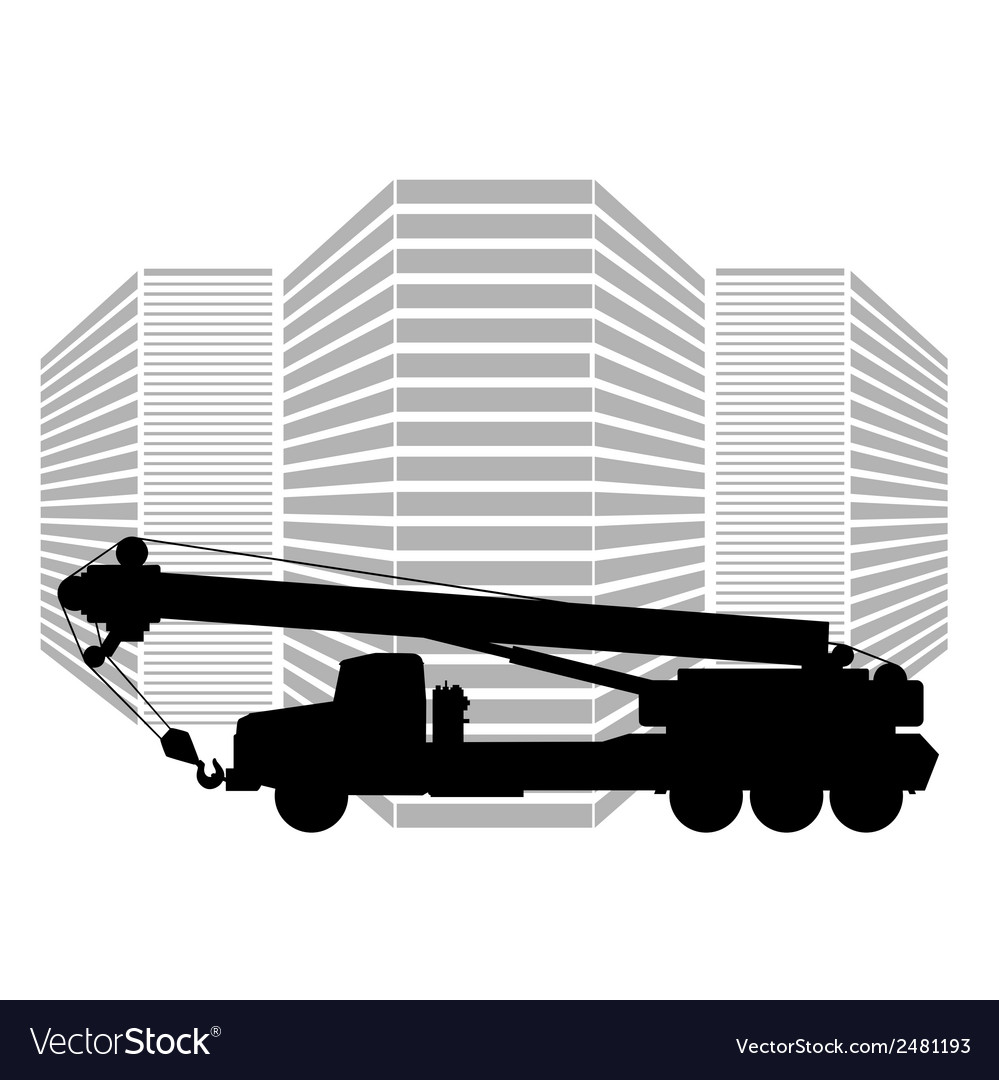 Mobile crane vector | Price: 1 Credit (USD $1)