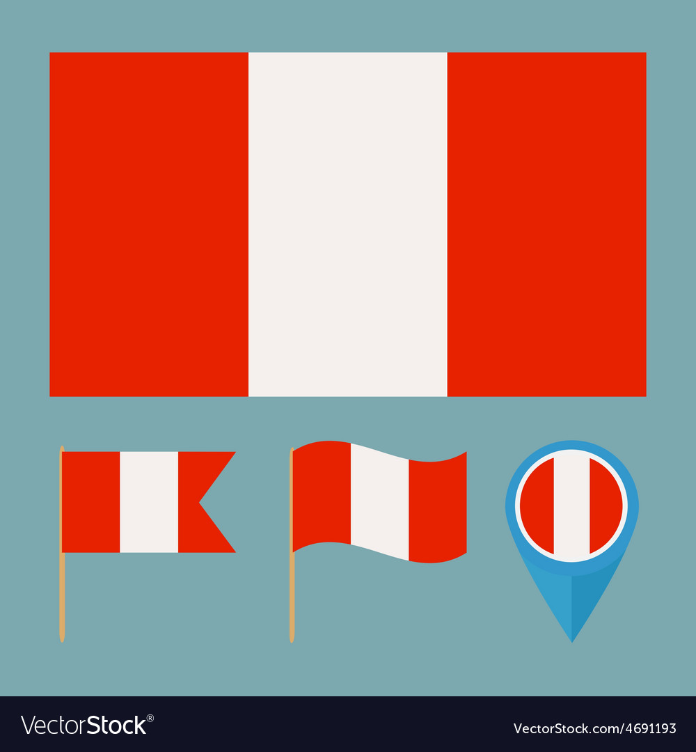 Perucountry flag vector   Price: 1 Credit (USD $1)