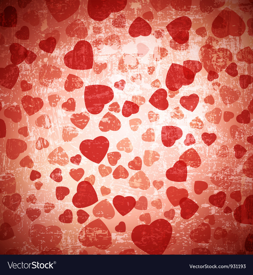 Red heart grunge background vector | Price: 1 Credit (USD $1)