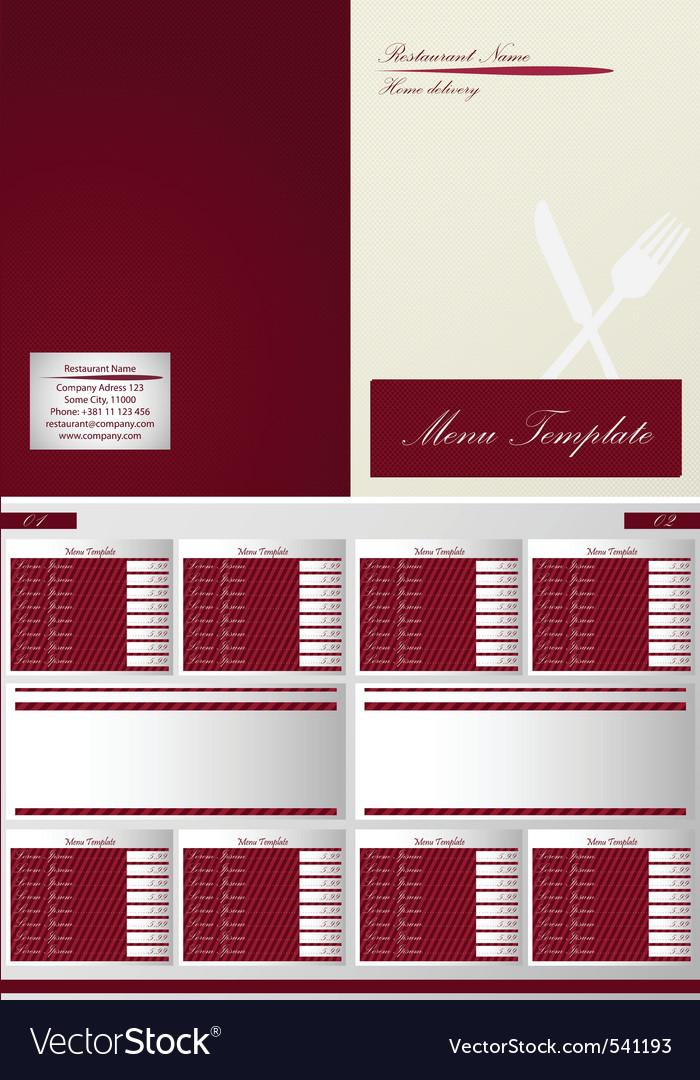 Restaurant menu template vector | Price: 1 Credit (USD $1)