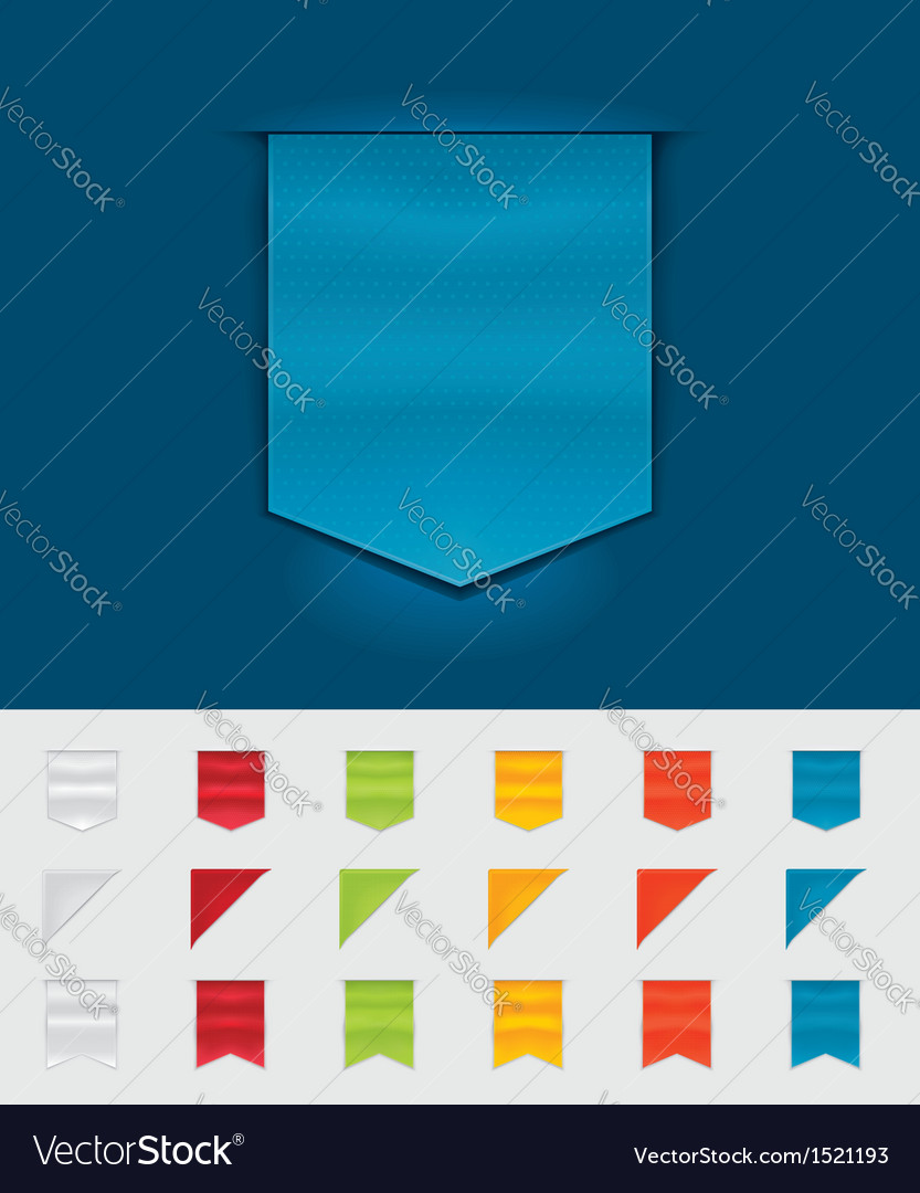 Ribbons and tags vector | Price: 1 Credit (USD $1)