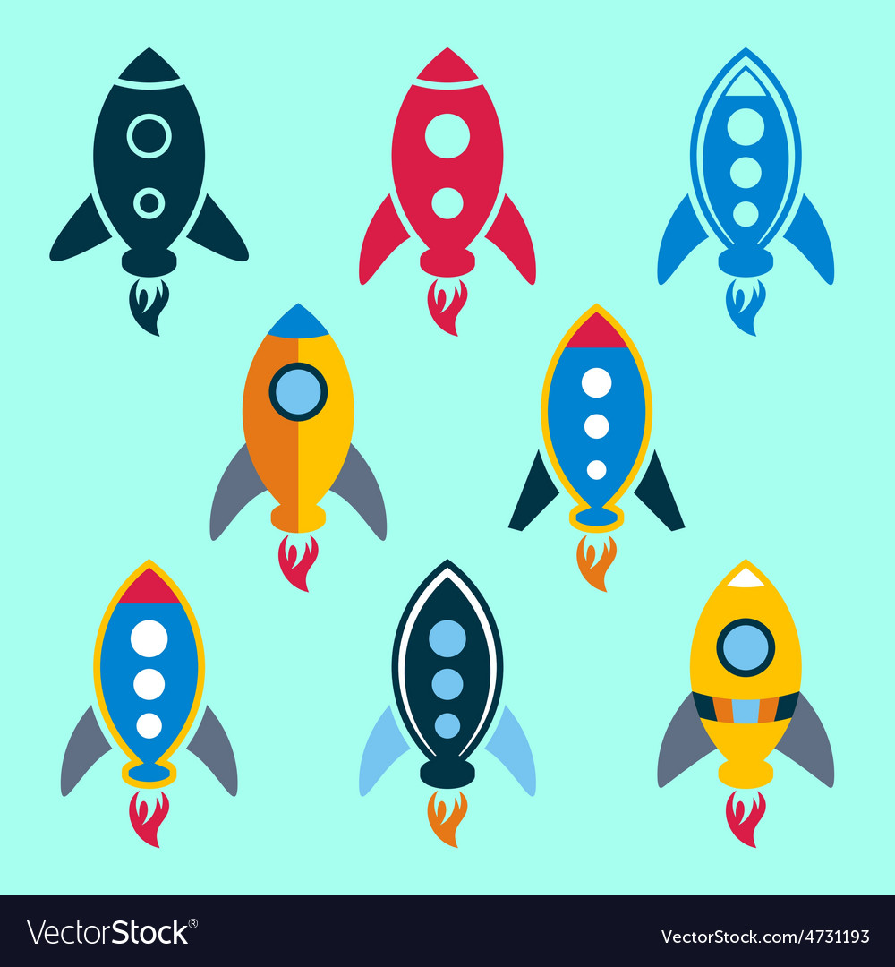 Rocket icons vector | Price: 1 Credit (USD $1)