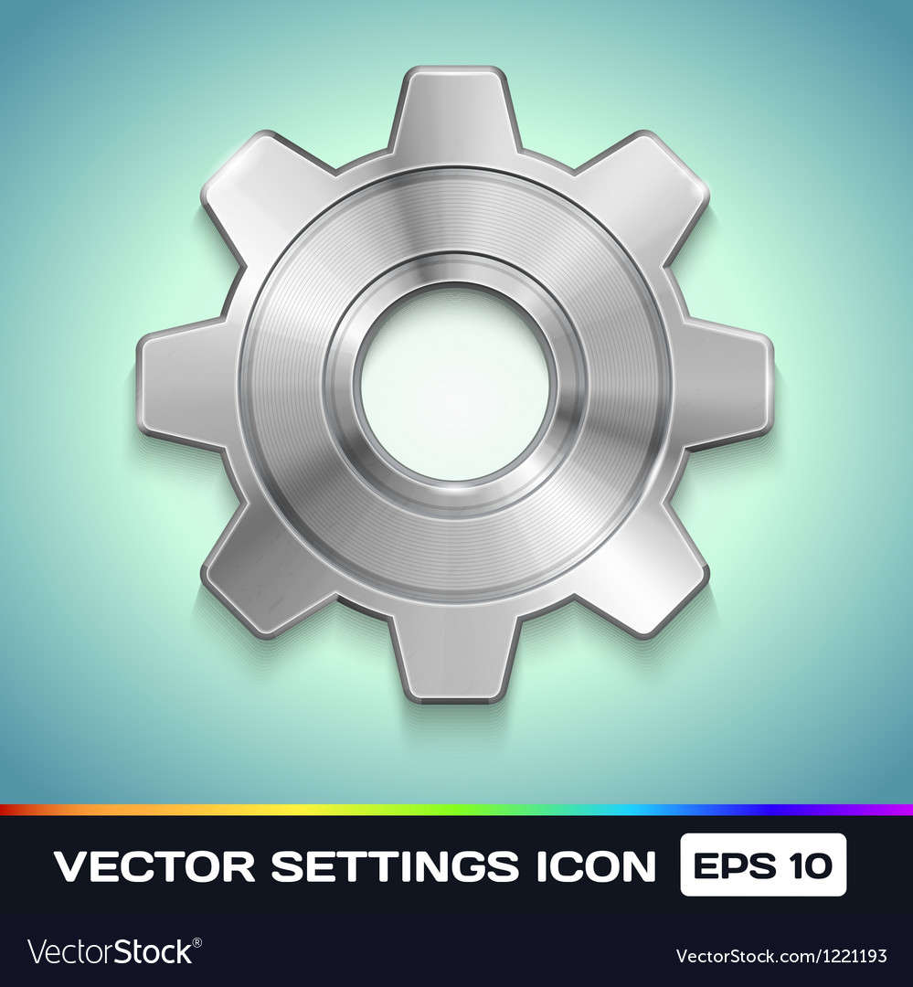 Settings gear icon vector | Price: 1 Credit (USD $1)