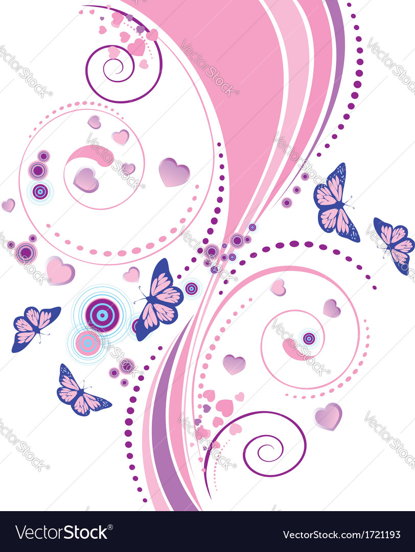 Soft pink floral ornament vector | Price: 1 Credit (USD $1)