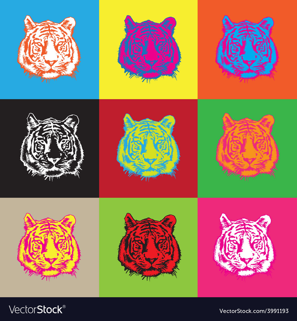 Tiger pop vector | Price: 1 Credit (USD $1)