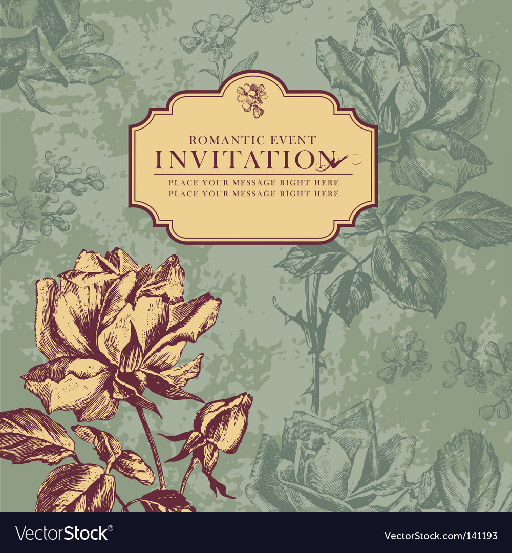 Vintage rose design vector | Price: 1 Credit (USD $1)
