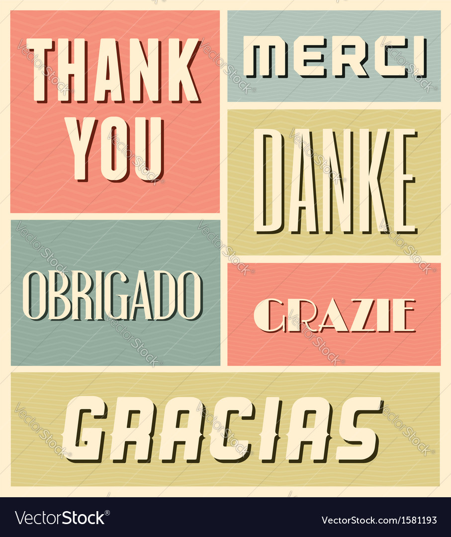 Vintage style thank you greeting cards set vector | Price: 1 Credit (USD $1)