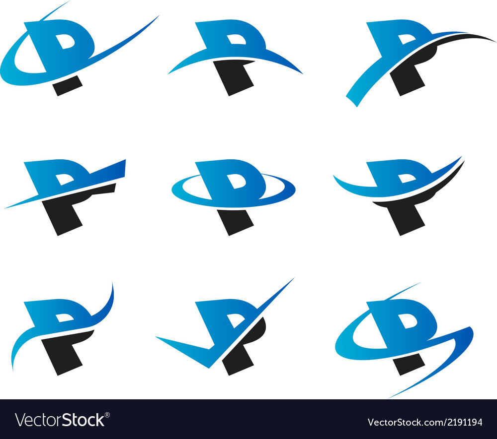 Alphabet p icons vector | Price: 1 Credit (USD $1)