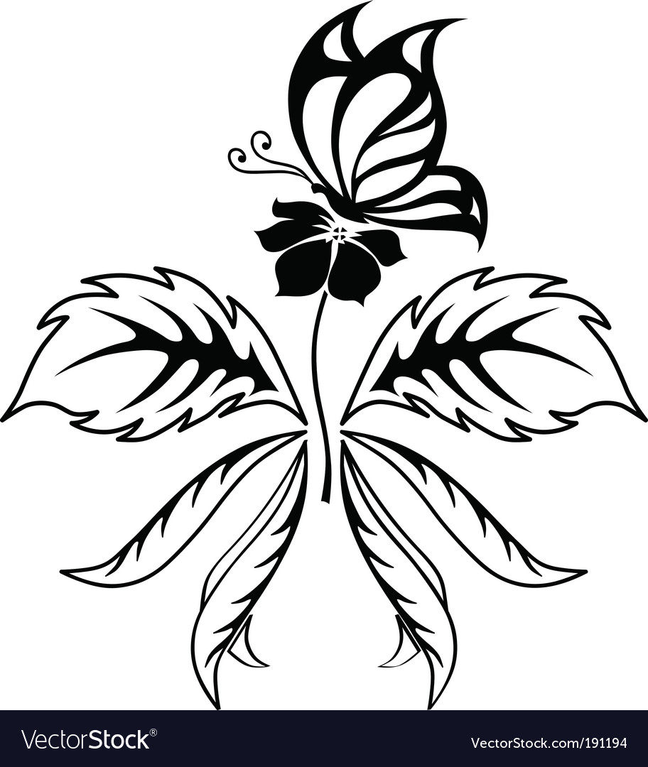 Butterfly tattoo vector | Price: 1 Credit (USD $1)