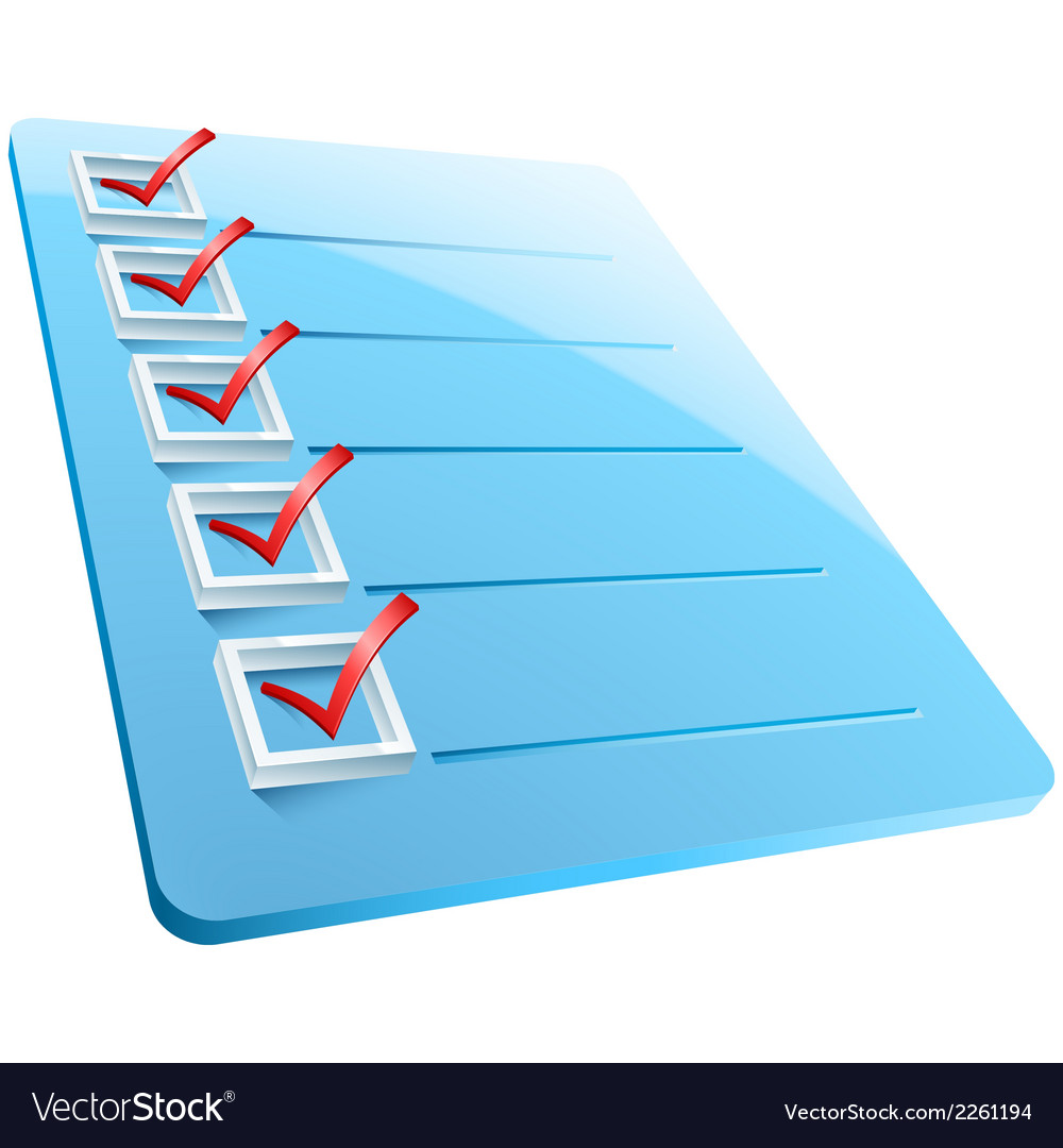 Checkmarks board vector | Price: 1 Credit (USD $1)