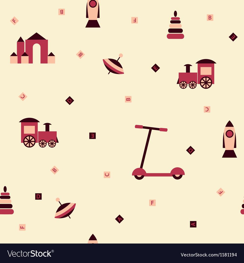 Children toys seamless background vector