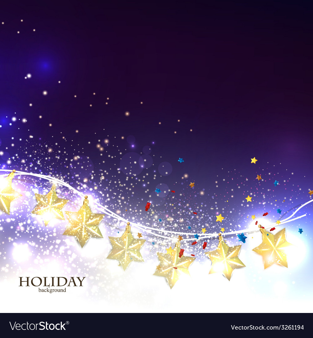 Christmas background with luminous garland vector | Price: 1 Credit (USD $1)