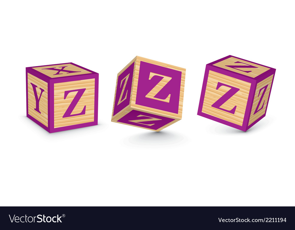 Letter z wooden alphabet blocks vector | Price: 1 Credit (USD $1)