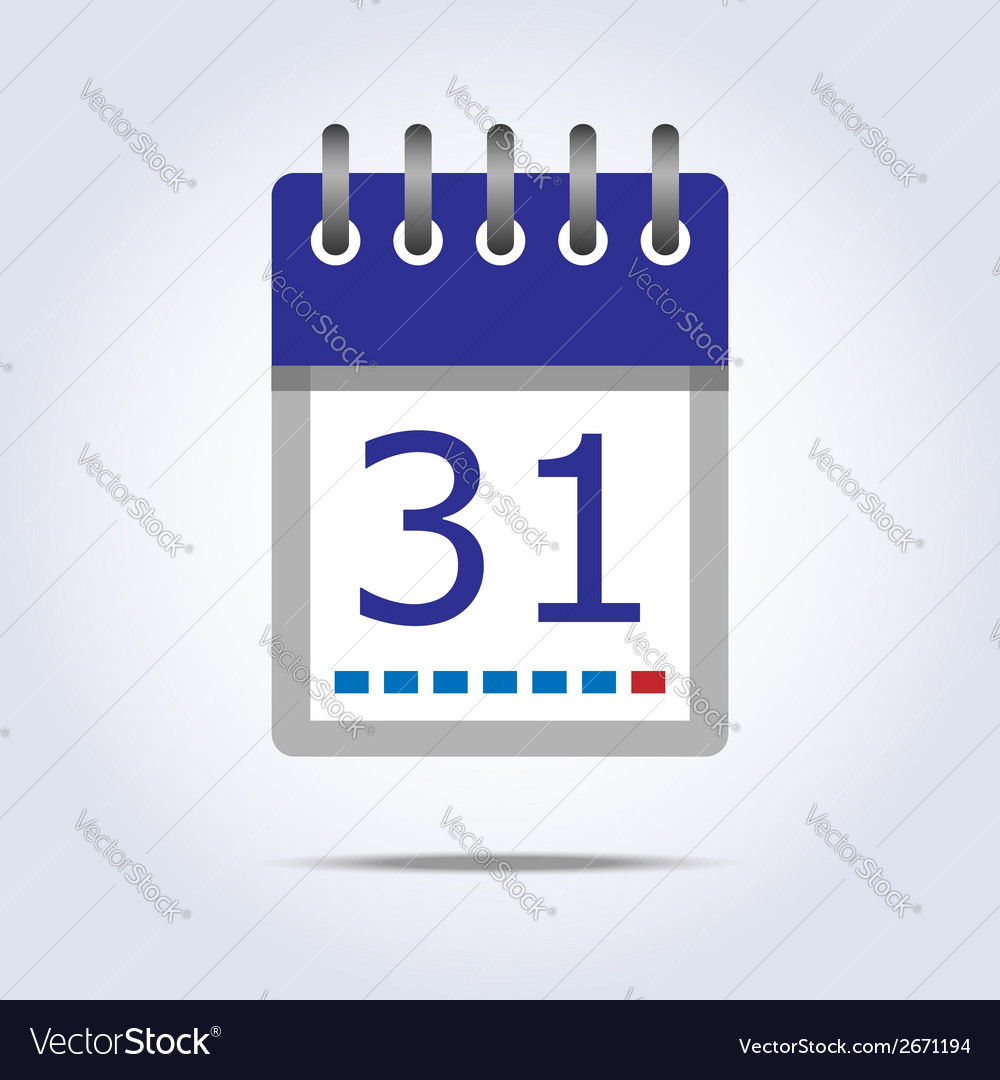 Simple calendar icon vector | Price: 1 Credit (USD $1)