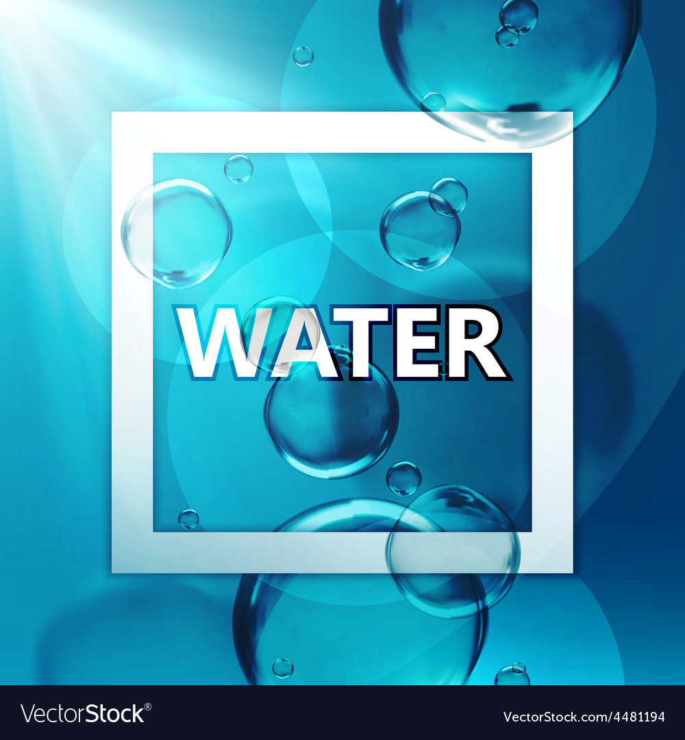 Transparent fresh shiny water vector | Price: 1 Credit (USD $1)