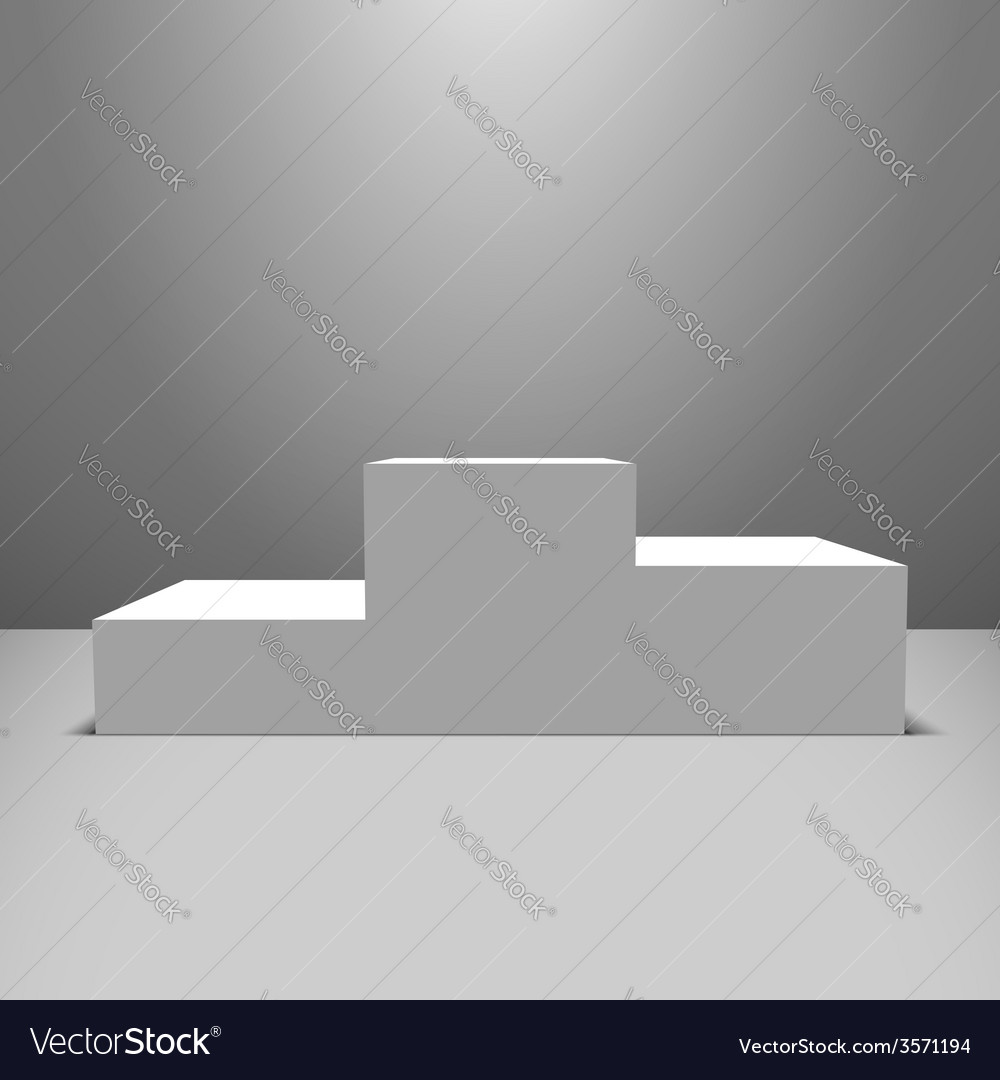 White pedestal vector | Price: 1 Credit (USD $1)