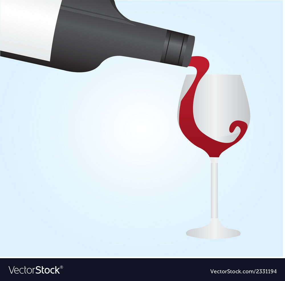 Wine bottle and cup vector | Price: 1 Credit (USD $1)