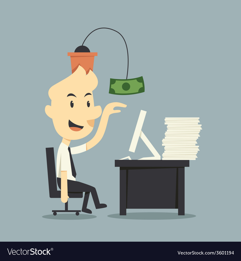Work for money vector | Price: 1 Credit (USD $1)