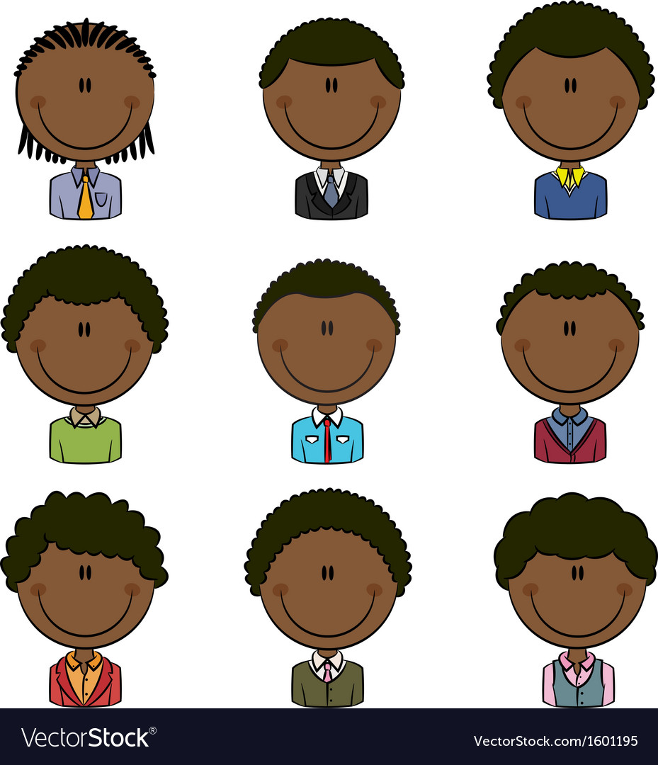 African-american male avatar vector | Price: 1 Credit (USD $1)