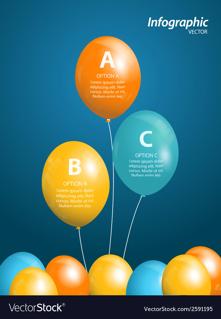 Balloon infographic vector | Price: 1 Credit (USD $1)
