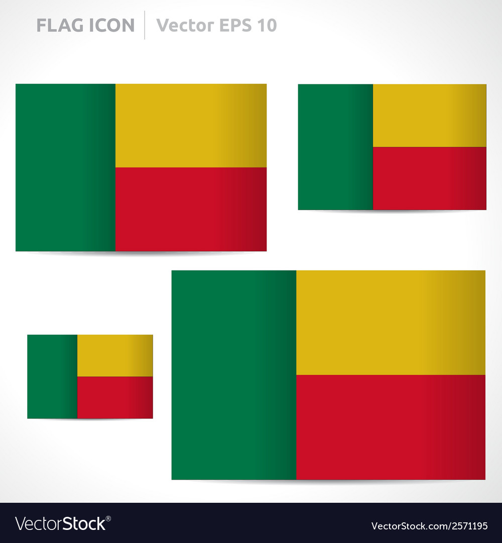 Benin flag template vector | Price: 1 Credit (USD $1)