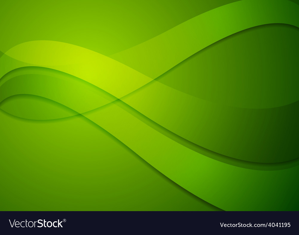 Bright green wavy background vector   Price: 1 Credit (USD $1)