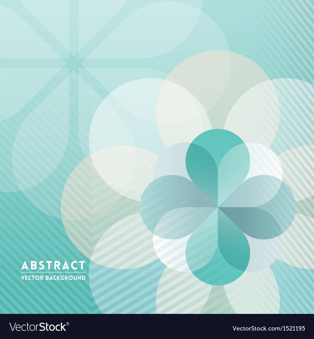 Petal shape abstract background vector | Price: 1 Credit (USD $1)