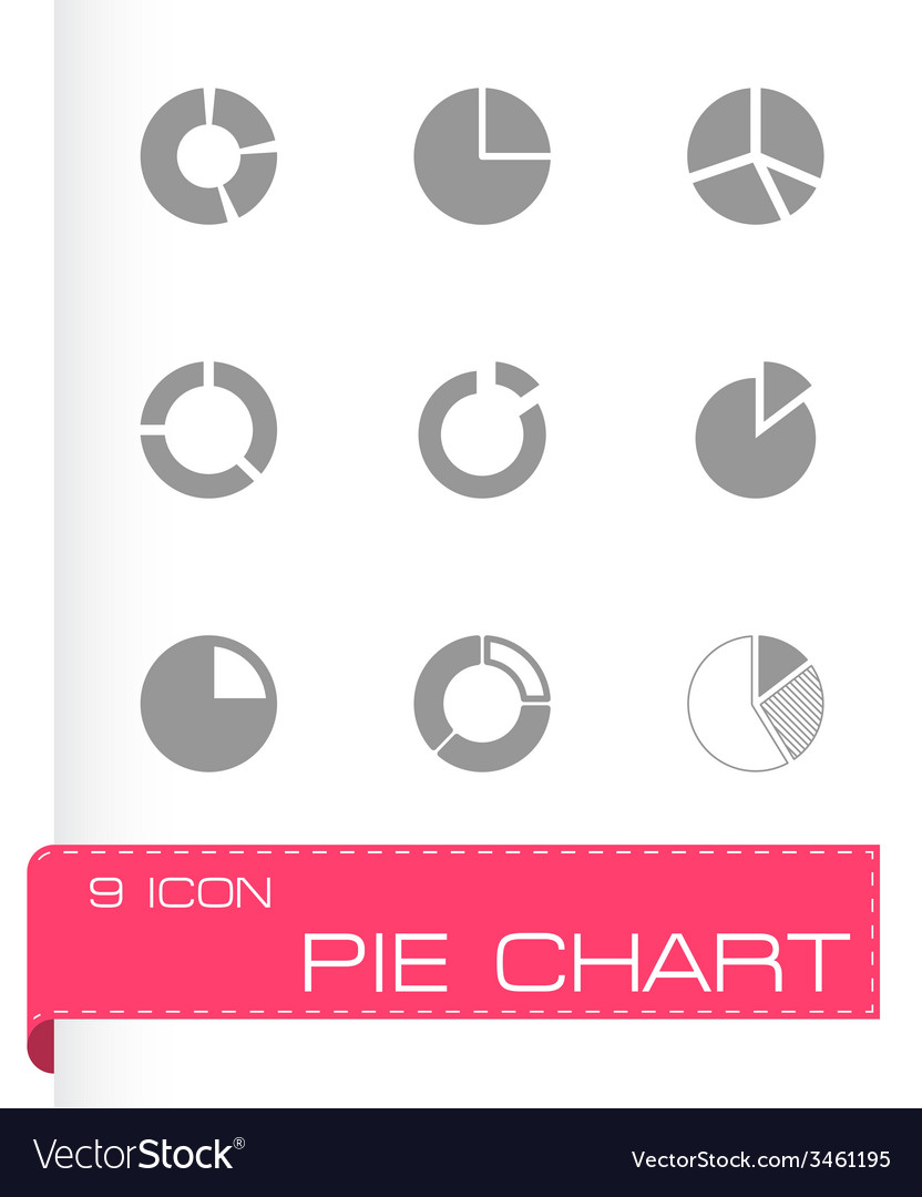 Pie chart icon set vector | Price: 1 Credit (USD $1)