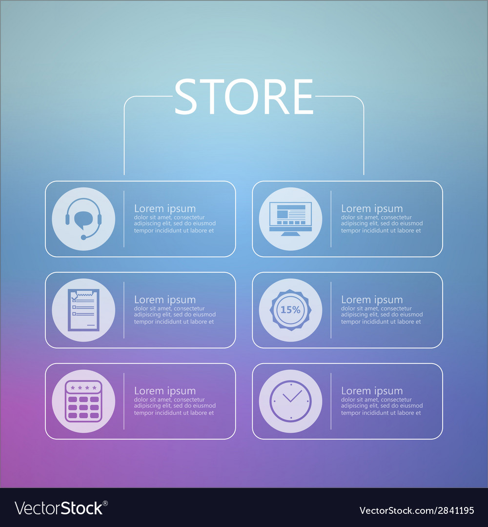 Stylized icons for online store service vector | Price: 1 Credit (USD $1)