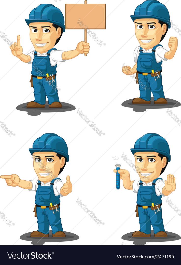 Technician or repairman mascot 9 vector | Price: 1 Credit (USD $1)