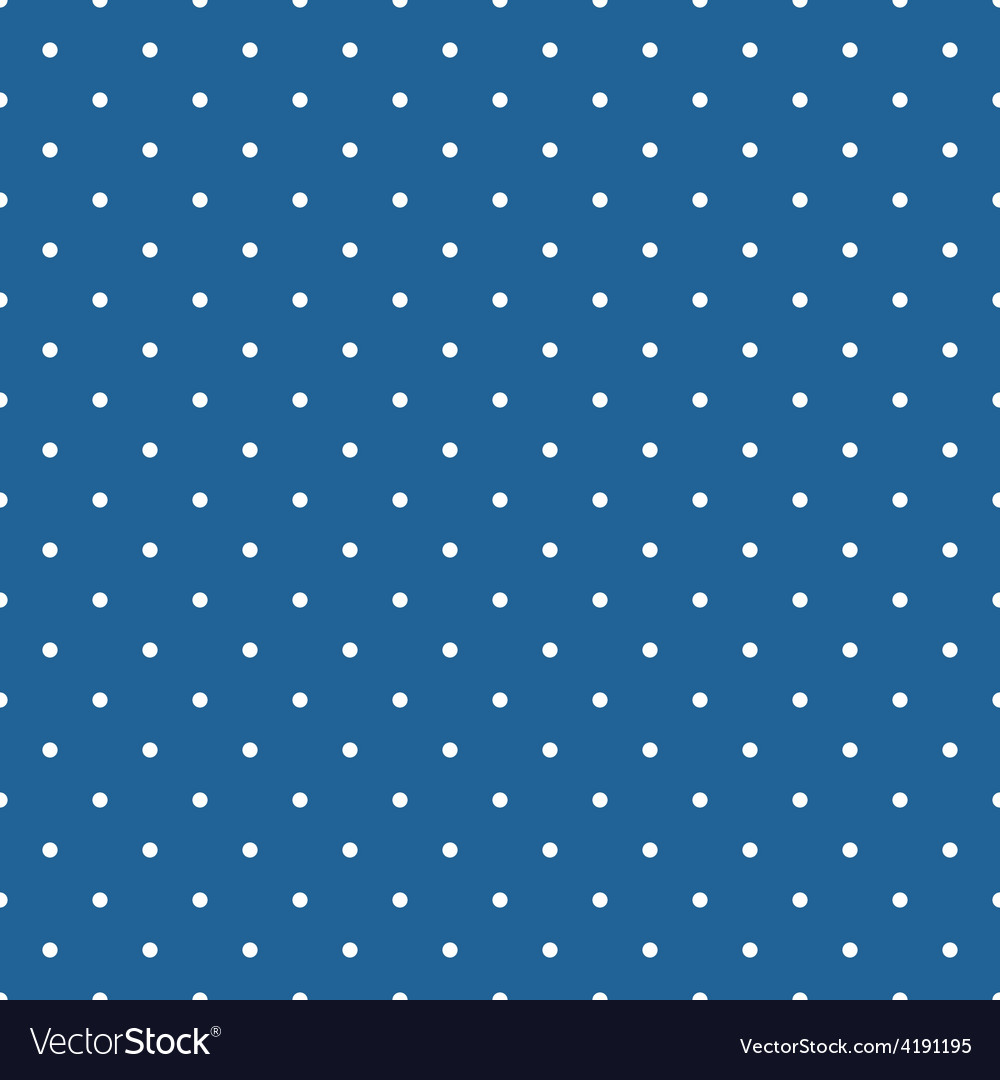 Tile pattern with polka dots on blue background vector | Price: 1 Credit (USD $1)